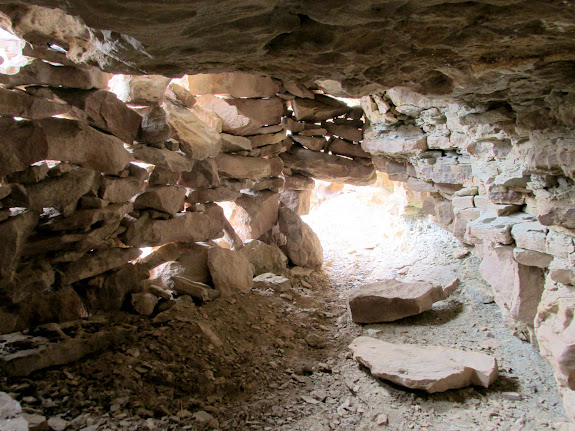 View inside a ruin