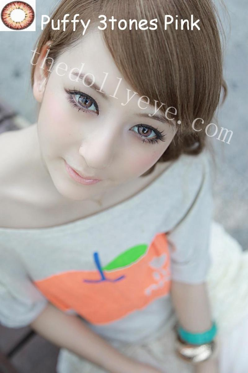 Barbie N Dolly Lens Shop Puffy 3tones 145mm Softlens Diva Queen One Layer With Clear Vision Green