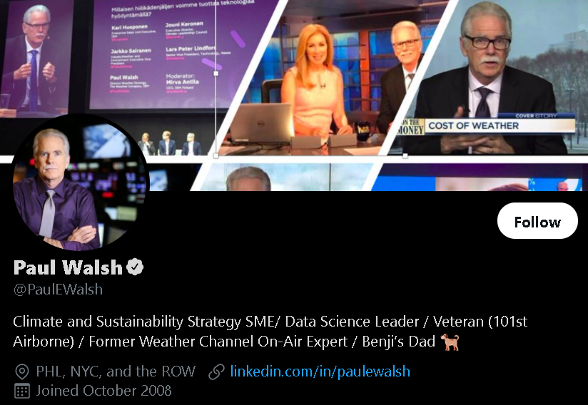 Paul Walsh - Weather Influencer