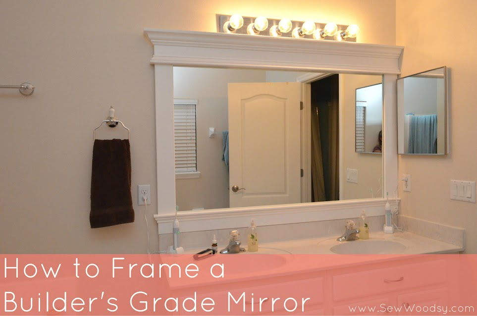 Framing A Builder Grade Bathroom Mirror Home Design Ideas And Pictures