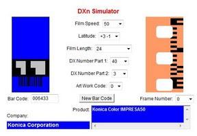 Konica Impresa 50 a DXn Simulator oldalán