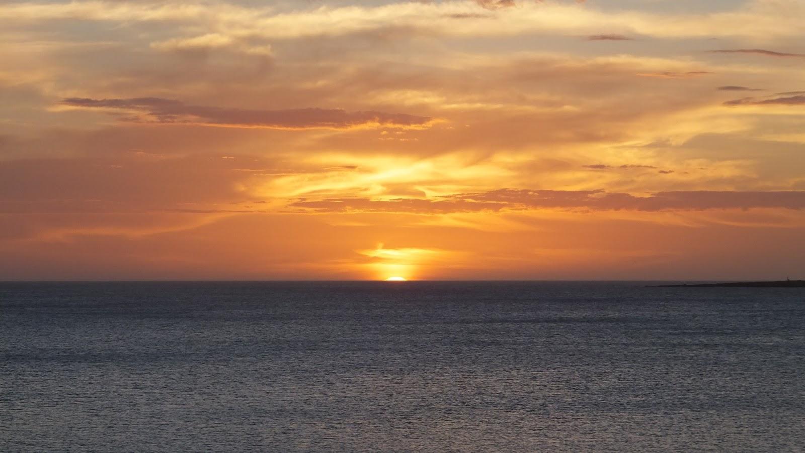 Puesta del sol en Punta del Este