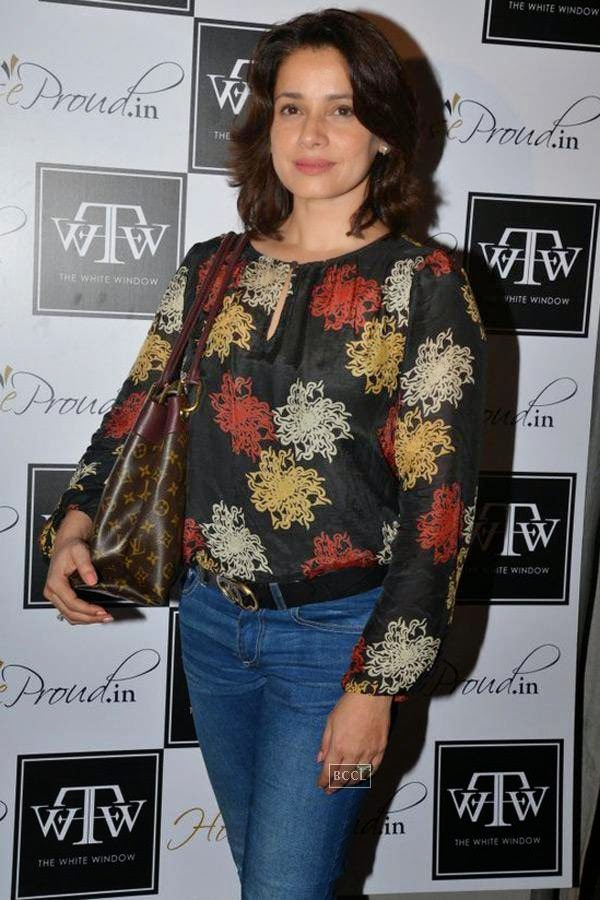 Neelam during the preview of Flower Power Collection, held at The White Window store, in Mumbai, on July 31, 2014. (Pic: Viral Bhayani)