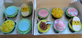 Box of Easter Themed Cupcakes