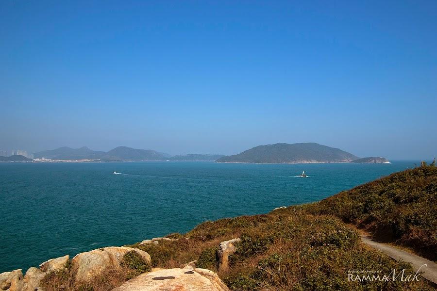 遠眺藍塘海峽及東龍洲