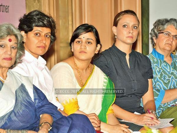 Dolly, Anjum, Aparna, Melissa Lee Ohm and Niloufar Pourzand during a conference dedicated to women empowerment, organised by CII Yi, on Malala Day, in Lucknow.