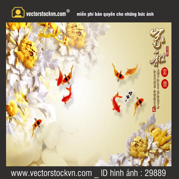 Tranh Dán Tường 3D Tranh Hoa