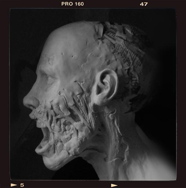 Buste échelle 1 zombie girl Zombie-bust05