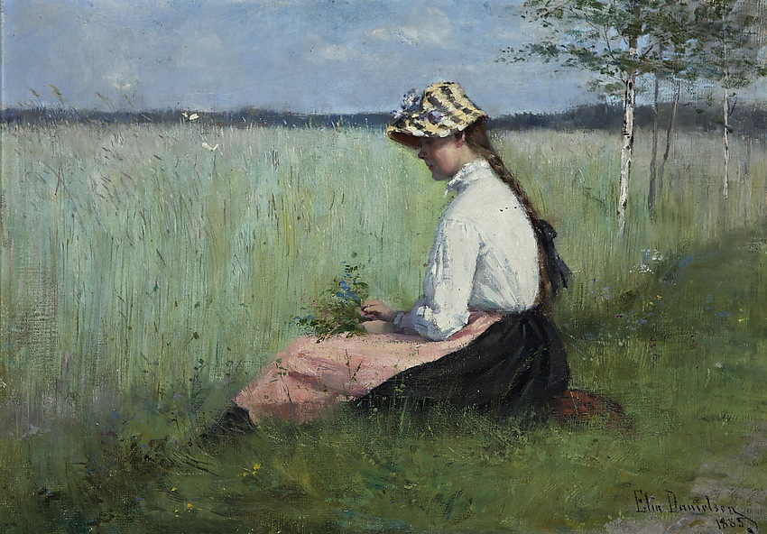 Elin Danielson-Gambogi - Girl in a meadow