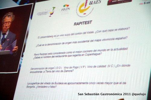 Prueba del Rapitest. Mejor Sumiller España 2011.