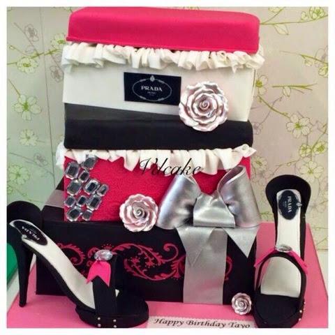 prada shoe cakes