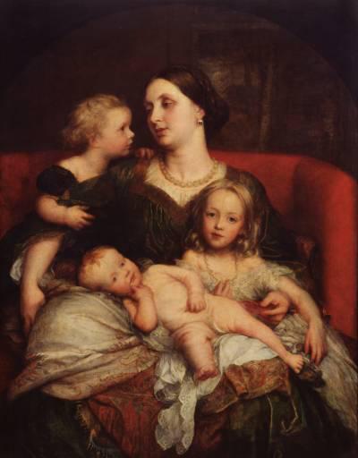 George Frederick Watts - Mrs George Augustus Frederick Cavendish-Bentinck and her Children
