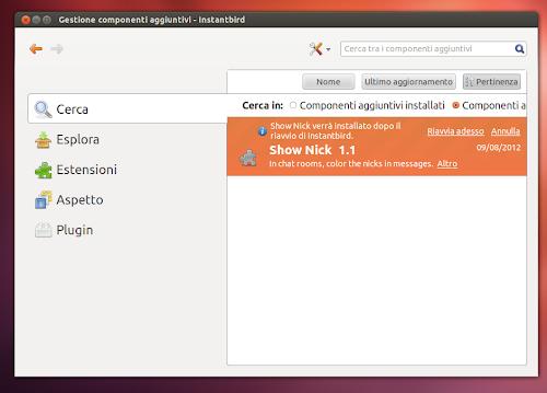 Instantbird 1.2 su Ubuntu