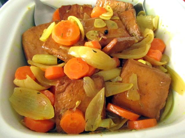 Cocina con luz verde tofu ahumado en escabeche - Como se cocina el tofu ...