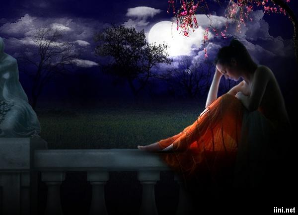 thơ 7 chữ viết trong đêm với nỗi buồn man mác