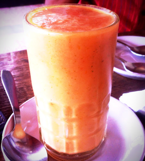 Smoothie with Passion Fruit, Mint, Papaya etc...