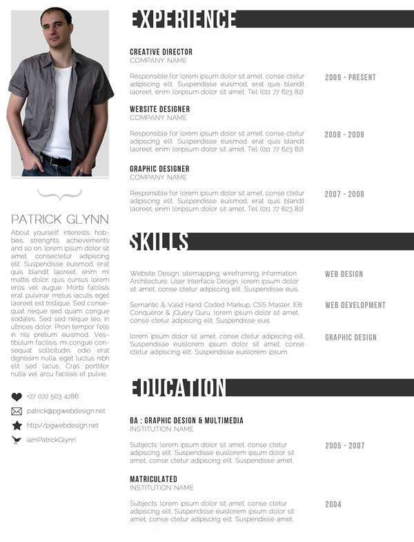graphic design resume examples 2012