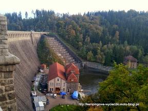 Pilchowice - kamienna zapora wodna na rzece Bóbr