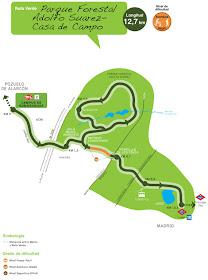 Ruta Verde en Pozuelo para recorrer a pie o en bicicleta desde el Metro Ligero ML2