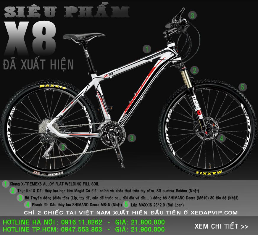 xe dap the thao TrinX X8 2014 xe đạp thể thao
