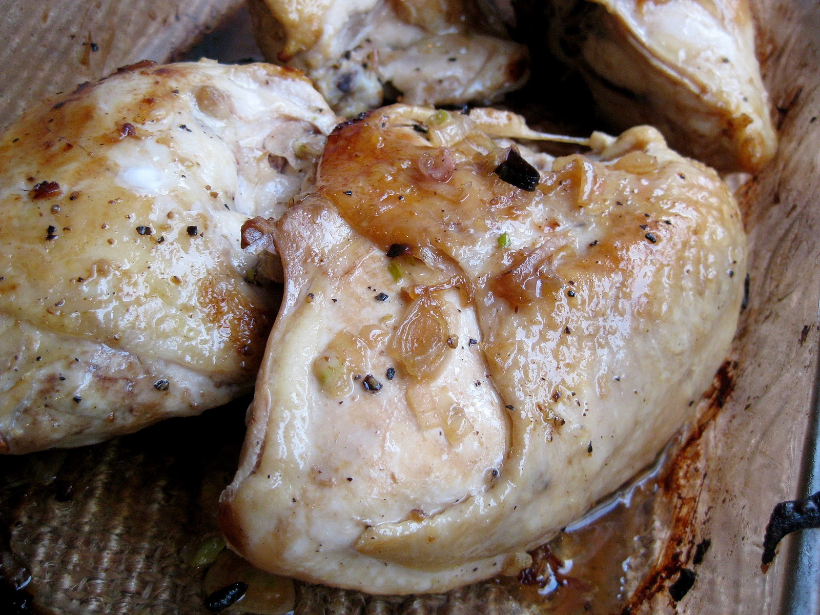 Roasted Chicken with Caramelized Shallots | A Hint of Honey