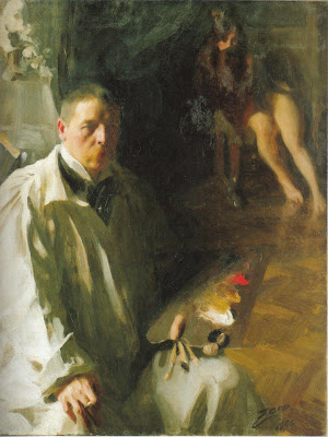 Anders Zorn - Self-Portrait with a model