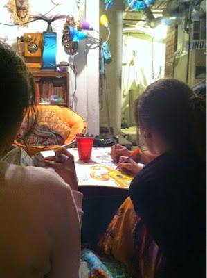 art, friends, group art, drawing, hippie