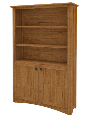Haiku Wooden Door Bookshelf in Como Maple