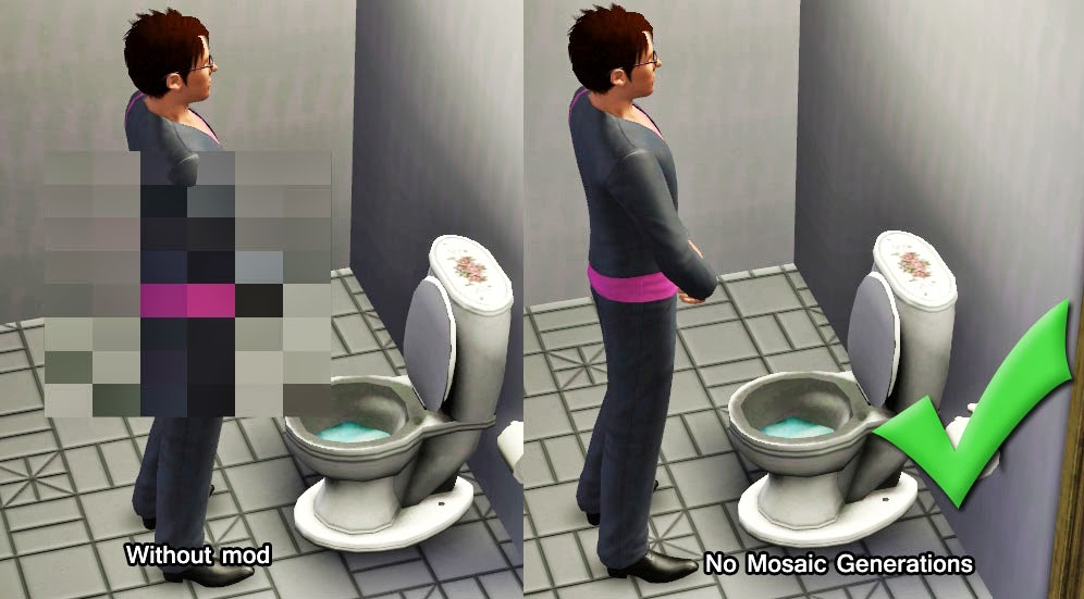 No mosaic parche anticensura sims 3