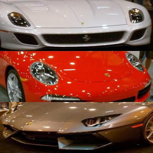 Ferrari Porsche and Lamborghini