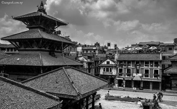 Black & white shot from the Durbar