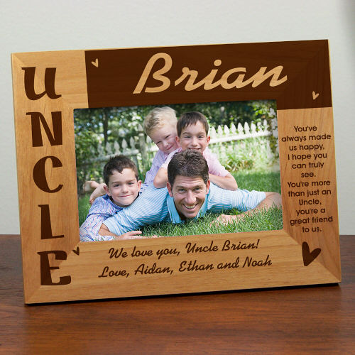 personalized gifts personalized uncle picture frames