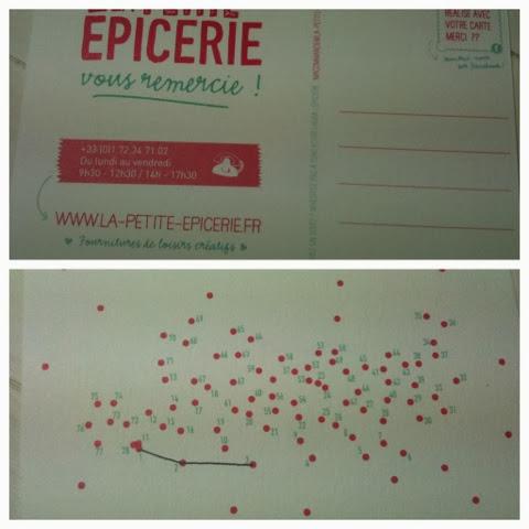 Et Au Verso Un Petit Jeu Sous Forme De Points Relier