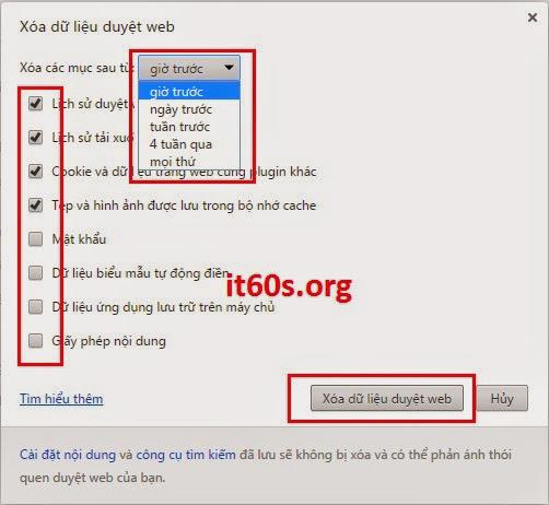 Cách xóa lịch sử duyệt web trong Cốc Cốc và Google Chrome 3