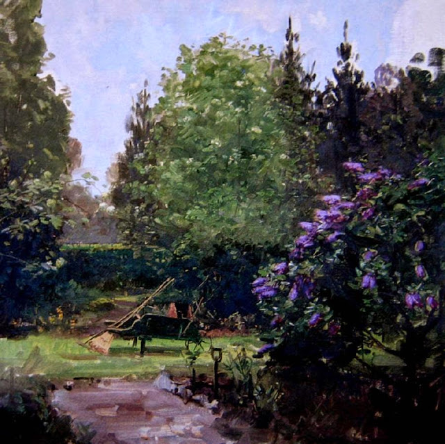 Arthur Streeton - The Garden, Longacres