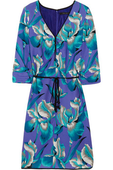 Marc Jacobs Floral Print Silk-Blend Dress