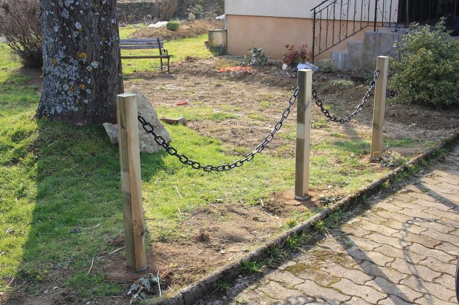 Avant apr s au pied des poteaux le blog de mon doubs jardin for Poteaux de rugby pour jardin