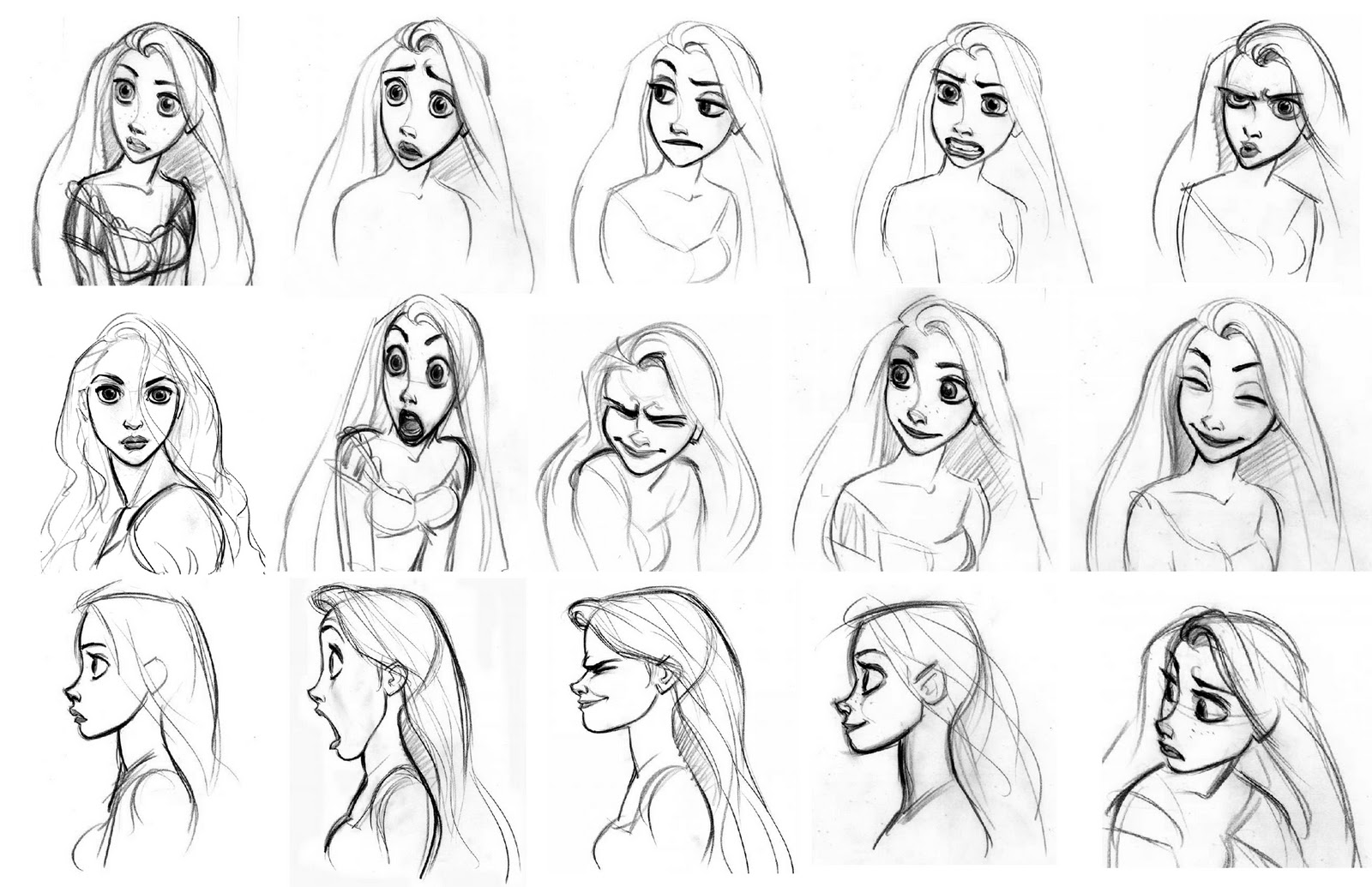 Character Design Learning : Character design peter yeh learning facial expression