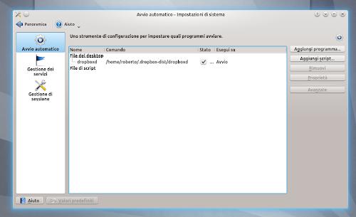 Dropbox su KDE