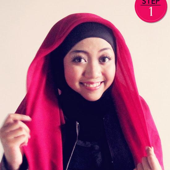 Tutorial cara memakai jilbab paris modern simple