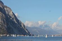 J/24s sailing Lecco, Italy