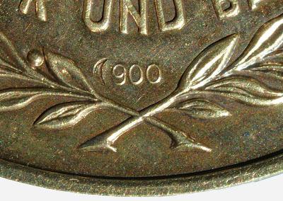149d Medaille für treue Dienste in der Nationale Volksarmee für 15 Dienstjahre Punze 900 (3) www.ddrmedailles.nl