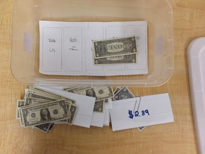 Dollar Over TEACCH task box for special education / autism