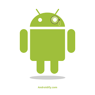 logo android con lupa