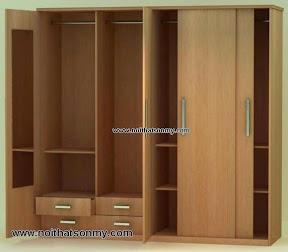 Tủ quần áo gỗ công nghiệp phủ Veneer