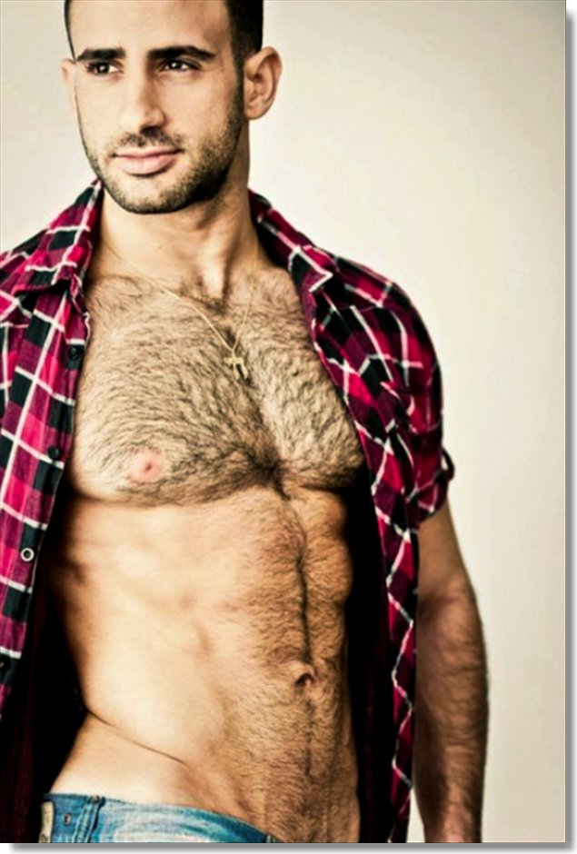 Hairy chested hung white men