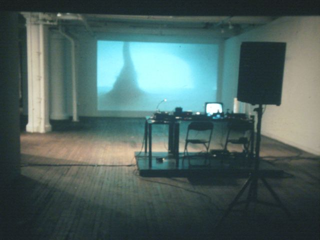 Bertrand Lamarche Vortex, 2001 -Thread Waxing Space New York. live performance