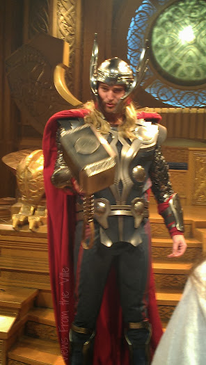 Thor in the Thor: Treasures of Asgard Exhibit at Disneyland #ThorDarkWorldEvent