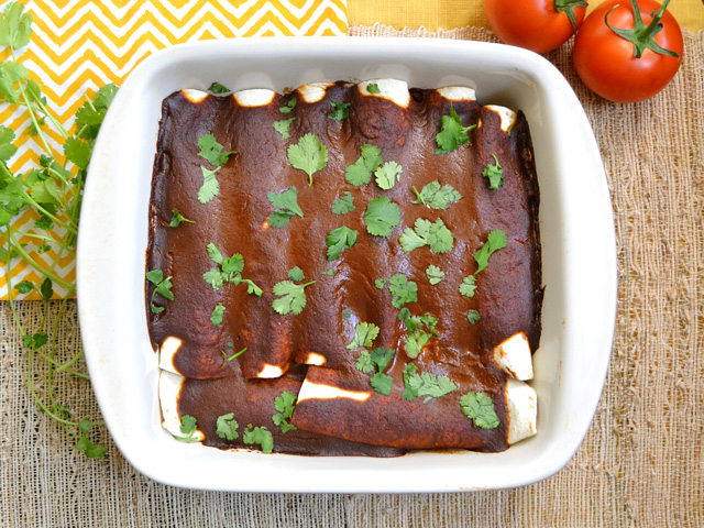 Black Bean & Avocado Enchiladas