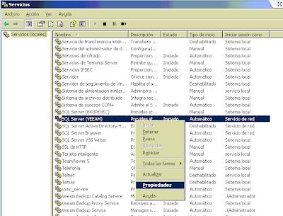 Comprobar servicio de SQL Server y nombre de instancia
